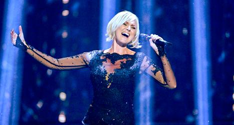 Sanna Nielsen tävlar för Sverige med låten Undo. Foto: Janerik Henriksson/TT.