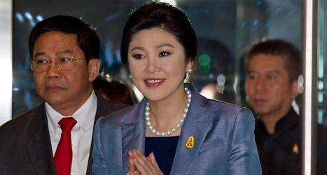 Thailands ledare Yingluck Shinawatra dömdes av en domstol. Foto: Sakchai Lalit/TT.