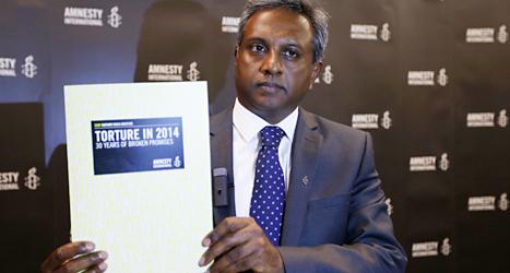 Salil Shetty är ledare för människorättsorganisationen Amnesty International. Foto: Lefteris Pitarakis/TT