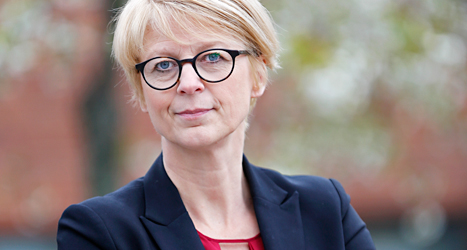 Elisabeth Svantesson är Sveriges arbetsmarknadsminister.  Foto: Sören Andersson/TT.