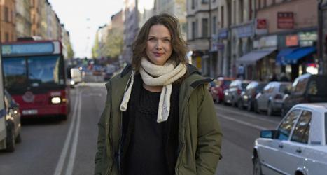 Komikern Anna Blomberg är arg på Mårten Andersson. Foto: Leif R Jansson/TT.