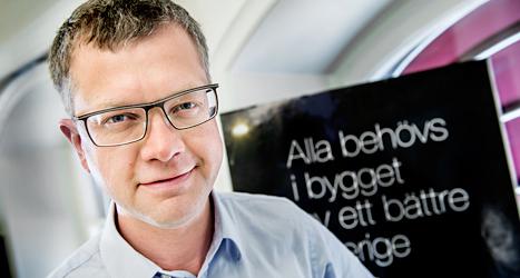 Kent Persson är Moderaternas partisekreterare. Foto: Tomas Oneborg/TT