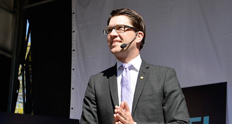 Jimmie Åkesson är Sverigedemokraternas ledare. Foto: TT