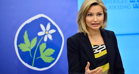 Ebba Busch Thor är tvåa på Kristdemokraternas lista i EU-valet. Foto: TT