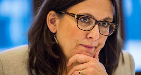 Cecilia Malmström från Folkpartiet är orolig för att de högerextrema partierna fick många röster. Foto: TT