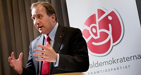 Socialdemokraternas ledare Stefan Löfven. Foto: Jonas Ekströmer/TT