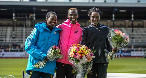 Isabellah Andersson vann helgens Stockholm Marathon. Foto: Maja Suslin/TT.