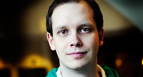 Peter Sunde Kolmisoppi är en av dem som startade sajten Pirate Bay. Foto: Yvonne Åsell/TT.