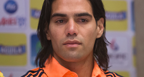 Colombias stjärna Radamel Falcao missar fotbolls-VM. Foto: Eduardo Di Baia, AP/TT.