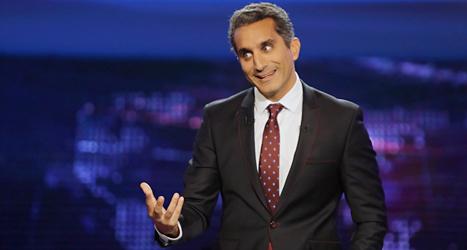 Komikern Bassem Youssef i Egypten har bestämt sig för att sluta. Foto: Amr Nabil, AP/TT.