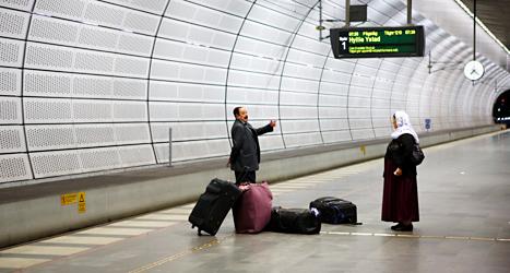 Det blev inga större problem på stationen i Malmö trots att många tåg stod stilla. Tågförarna strejkar. Foto: Drago Prvulovic, TT