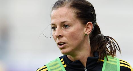 Lotta Schelin har vunnit både ligan och cupen i Frankrike. Foto:  Mikael Fritzon/TT.