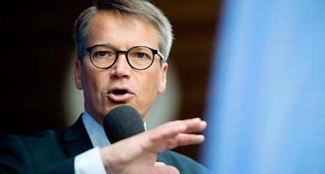 Kristdemokraternas ledare Göran Hägglund. Foto: Vilhelm Stokstad /TT