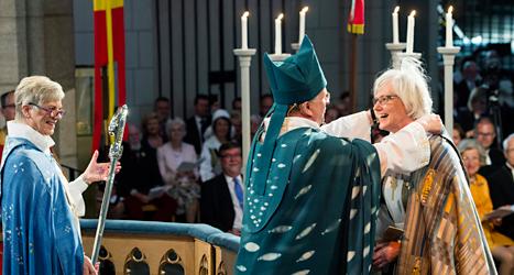 Antje Jackelén blir ny ärkebiskop. Foto: Pontus Lundahl/TT