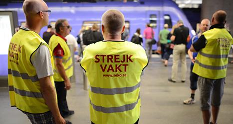 Många tåg i Skåne står stilla. De som arbetar på tågen strejkar. Foto: Johan Nilsson/TT.