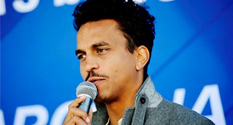 Jason Diakité kallar sig Timbuktu när han rappar. Foto: Jens L'Estrade /TT
