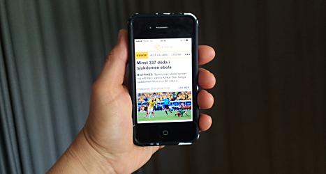 Nu finns nyheterna från 8sidor.se och allavaljare.se i en app. Foto: Ulrika Åling