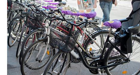 Fler än 24 tusen cyklar har blivit stulna i Sverige i år. Foto: Maja Suslin/TT.