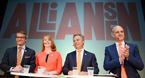 Partierna i regeringen kallar sig för Alliansen. Foto: TT