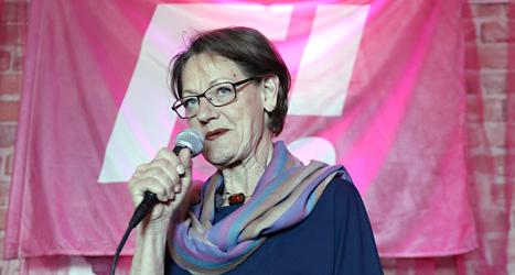 Gudrun Schyman är en av ledarna för partiet Feministiskt initiativ. Foto: TT