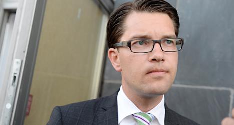 Sverigedemokraternas partiledare Jimmie Åkesson. Foto: TT