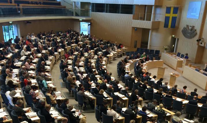 Politikerna i riksdagen. Foto: Malin Crona