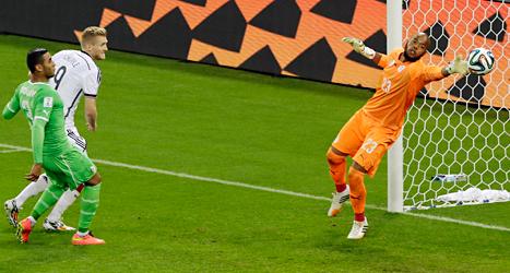 André Schürrle gjorde mål för Tyskland. Foto: Thanassis Stavrakis/TT.