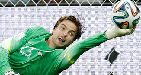 Hollands målvakt Tim Krul blev hjälte i matchen mot Costa Rica. Hassan Amm/TT.
