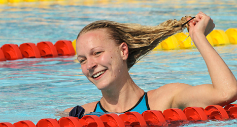 Sara Sjöström vann fem guld och slog världsrekord. Foto: Jens Bornemann/TT.