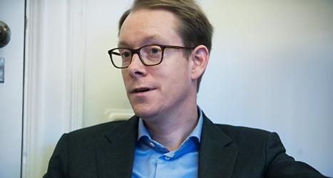 Tobias Billström är Sveriges migrationsminister. Foto: Lars Pehrson/TT.