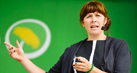 Åsa Romson är en av Miljöpartiets två ledare. På onsdagen pratade hon i Almedalen. Foto: TT