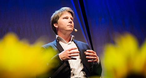Folkpartiets Erik Ullenhag är regeringens minister för homofrågor. Foto: TT