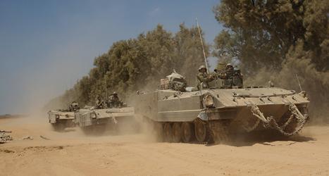 Israeliska soldater lämnar Gaza. Foto: Tsafrir Abayov /TT