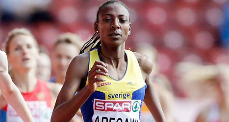 Abeba Aregawi vann utan problem sitt försök på 1500 meter. Foto: Petr David Josek /TT
