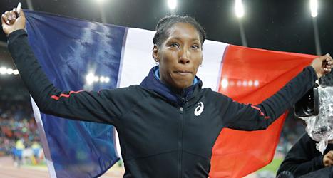 Eloyse Lesueur från Frankrike vann damernas längdhopp i EM. Foto: Matt Durham /TT