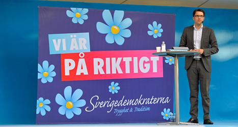Sverigedemokraternas ledare Jimmie Åkesson kan bli viktig när en ny statsminister ska väljas. Foto: Henrik Montgomery /TT