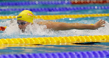 Sarah Sjöström tog  många medaljer i europamästerskapet i simning. Foto: Michael Sohn/TT.