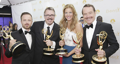 Breaking Bad fick flera fina priser vid Emmy-galan i USA. Foto: Casey Curry/TT.