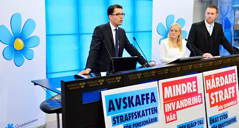 Sverigedemokraternas ledare berättade på tisdagen hur de vill styra Sverige. Foto: TT