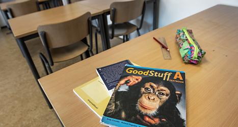 En bok som används i ämnet engelska. Foto:TT