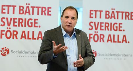 Socialdemokraternas ledare Stefan Löfven vill höja lärarnas löner. Foto: TT