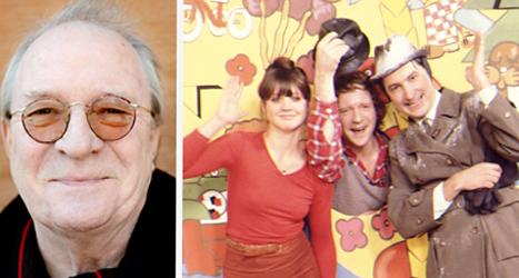 Lars-Erik Brännström blev 69 år gammal. Bilden till höger är från barnprogrammet Fem myror är fler än fyra elefanter. Foto: Jessica Gow/TT.