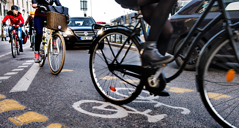 Ovanligt många cyklister och gående dog i trafiken i somras. Foto: Tomas Oneborg/TT.