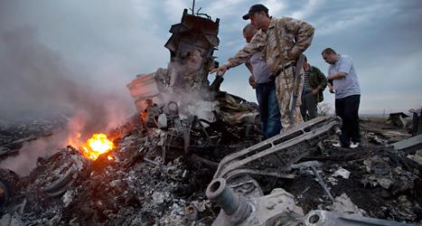 I juli kraschade planet från Malaysia i Ukraina. Foto: Dimitrij Lovetsky /TT