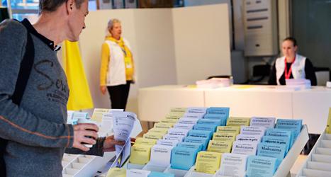 I två veckor har röstningen i Sverige varit igång. Foto: Bertil Ericson /TT