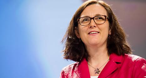 Cecilia Malmström får ett nytt toppjobb i EU. Foto: Geert Vanden Wijngaert/TT.