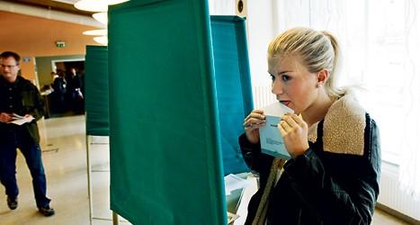 På söndag ska svenska folket gå och rösta. Foto: TT