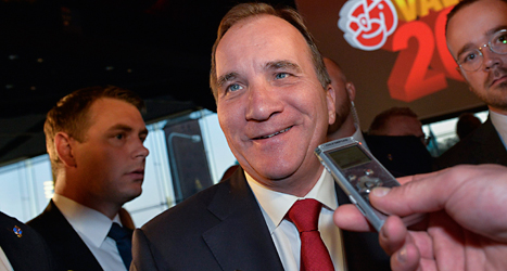 Socialdemokraternas ledare Stefan Löfven blir troligen Sveriges nästa statsminister. Foto: Jonas Ekströmer/TT