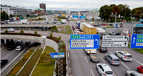 Folket i Göteborg röstade nej till en avgift för att köra bil in i staden. Foto: Adam Ihse /TT