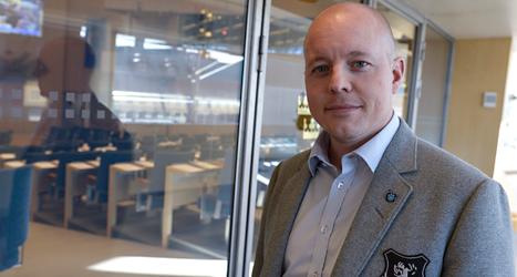Björn Söder är partisekreterare i Sverigedemokraterna. Foto: Bertil Enevåg Ericson/TT.